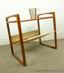 danish teak magazine rack