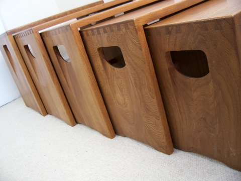Ercol Nest of 5 Coffee Tables
