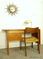 Danish Teak Desk by Tibergaard