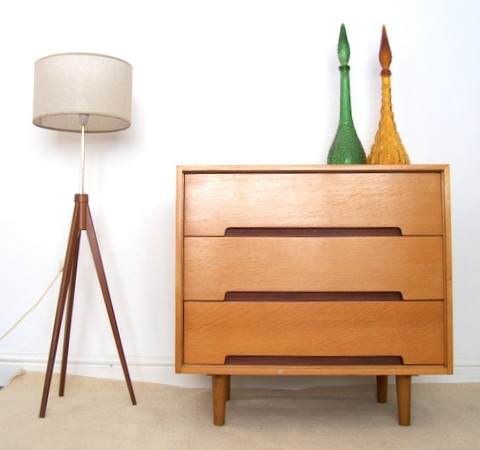 JOHN & SYLVIA REID STAG chest of drawers