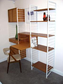 mid century shelving unit